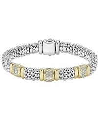 Lagos - 'caviar' Diamond Station Bracelet - Lyst
