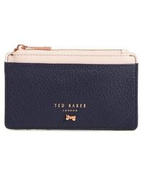 Ted Baker - Alica Top Zip Leather Card Case - Lyst