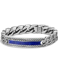 David Yurman - 'maritime' Curb Link Id Bracelet - Lyst