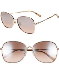 6e1cc735c42 Lyst - Max Mara Tube 54mm Gradient Lens Cat Eye Sunglasses