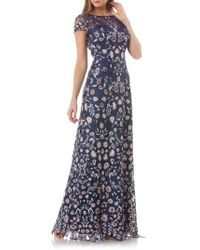 JS Collections - Embroidered Lace Gown - Lyst