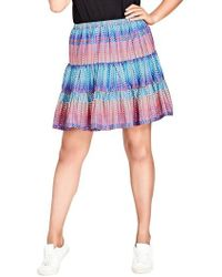 City Chic - Tiered Up Skirt - Lyst