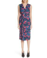 Jason Wu - Fruit Print Wrap Front Crepe Dress - Lyst