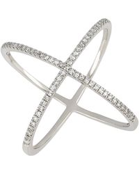 CARRIERE JEWELRY - Carriere Wide Crossover Diamond Ring (nordstrom Exclusive) - Lyst