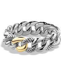 David Yurman - 'belmont' Curb Link Bracelet With 18k Gold - Lyst