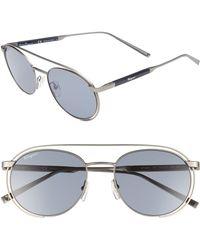 Ferragamo - 54mm Round Sunglasses - Lyst