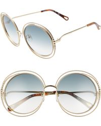 d8ae9db52af8 Chloé Chloé Isidora Round-frame Gold-tone And Acetate Sunglasses in ...