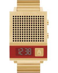 Nixon Unisex Digital Dork Too Gold-tone Stainless Steel Bracelet Watch 34mm - Metallic