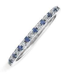 Kwiat - Diamond & Sapphire Stackable Ring - Lyst