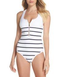 Heidi Klein - Core Nautical One-piece Swimsuit - Lyst