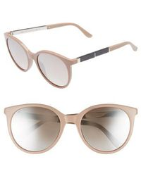 Jimmy Choo - Erie 54mm Gradient Round Sunglasses - Nude - Lyst