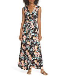 Fraiche By J - Peony Deep V Maxi Dress - Lyst