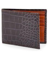 Bosca | Embossed Bifold Wallet | Lyst
