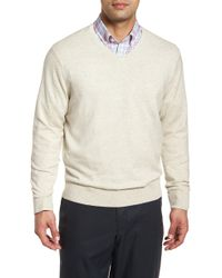 Cutter & Buck - Lakemont Classic Fit V-neck Sweater - Lyst