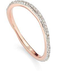 Monica Vinader - Riva Wave Diamond Eternity Ring - Lyst