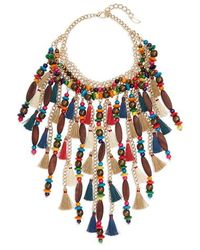 Natasha Couture - Beaded Tassel Necklace - Lyst