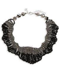 Panacea | Beaded Statement Collar Necklace | Lyst
