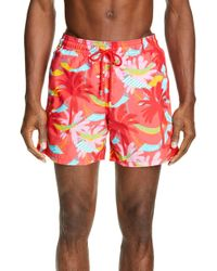 cd1a875383 Vilebrequin Classic Swim Trunks in Blue for Men - Lyst