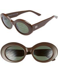 d7e9aee90c8a Lyst - Balenciaga Square Oversized Sunglasses in Brown