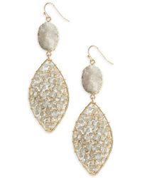 Panacea | Drusy Drop Earrings | Lyst