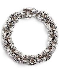 Konstantino - Etched Sterling Silver Filigree Bracelet - Lyst