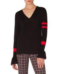 Akris Punto - Stripe Wool Bell Sleeve Sweater - Lyst