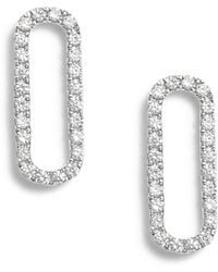 Bony Levy - Rounded Rectangle Diamond Stud Earrings (nordstrom Exclusive) - Lyst