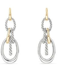 David Yurman - Pure Form Drop Earrings With 18k Gold - Lyst