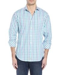Thomas Dean - Regular Fit Check Sport Shirt - Lyst