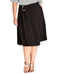 City Chic - Joyful A-line Skirt - Lyst