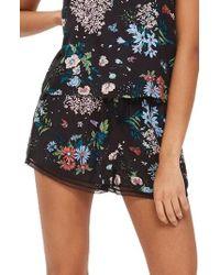 TOPSHOP - Montana Floral Pajama Shorts - Lyst