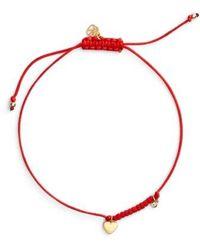 Shy By Sydney Evan - Diamond & Charm Friendship Bracelet - Lyst