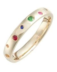 EF Collection - Rainbow Speckled Stacking Ring - Lyst
