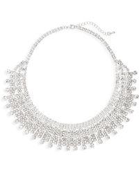 Nina - Crystal Drama Collar Necklace - Lyst