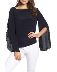Bailey 44 - Thesis Ruffle Angel Sleeve Silk Top - Lyst