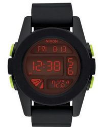 Nixon - The Unit Digital Silicone Strap Watch - Lyst