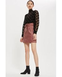 TOPSHOP | Embroidered Paperbag Miniskirt | Lyst