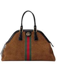 Gucci - Large Re(belle) Suede Satchel - Lyst