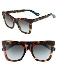 Marc Jacobs - 50mm Cat Eye Sunglasses - Havnturqu - Lyst