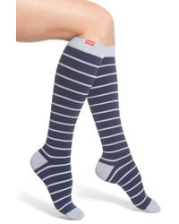 VIM & VIGR - Nautical Stripe Graduated Compression Trouser Socks - Lyst