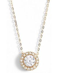 Nadri - Halo Pendant Necklace - Lyst