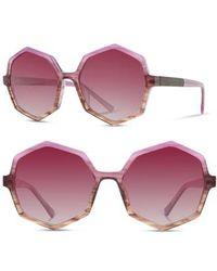 Shwood - Aurora 57mm Sunglasses - Lavender/ Elm Burl/ Rose Fade - Lyst