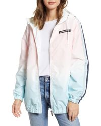 Members Only - Ombre Long Bomber Jacket - Lyst
