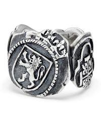 David Yurman - Shipwreck Signet Coin Ring - Lyst
