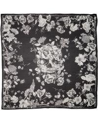 Alexander McQueen - Crawling Roses Silk Chiffon Shawl - Lyst