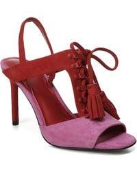 Diane von Furstenberg - Arabella Tasseled Lace-up Sandal - Lyst