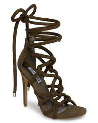 06186667906 Steve madden  Mogull  Ankle Strap Sandal in Black
