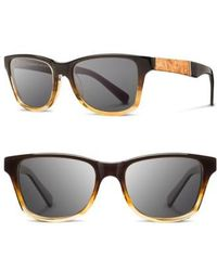 Shwood | 'canby' 53mm Sunglasses - Sweettea/ Maple/ Grey | Lyst
