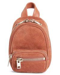 Alexander Wang - Mini Attica Suede Backpack-shaped Crossbody Bag - Lyst