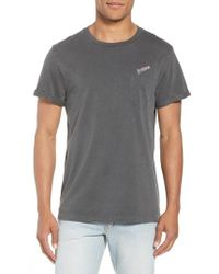 FRAME - Classic Fit Logo Embroidered Pocket T-shirt - Lyst